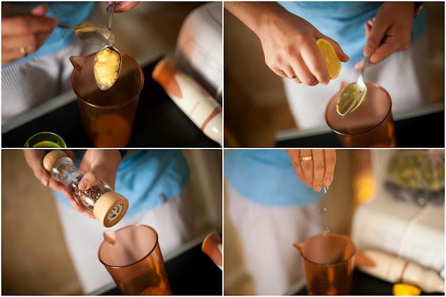 горчица, лимонный сок, соль перец
