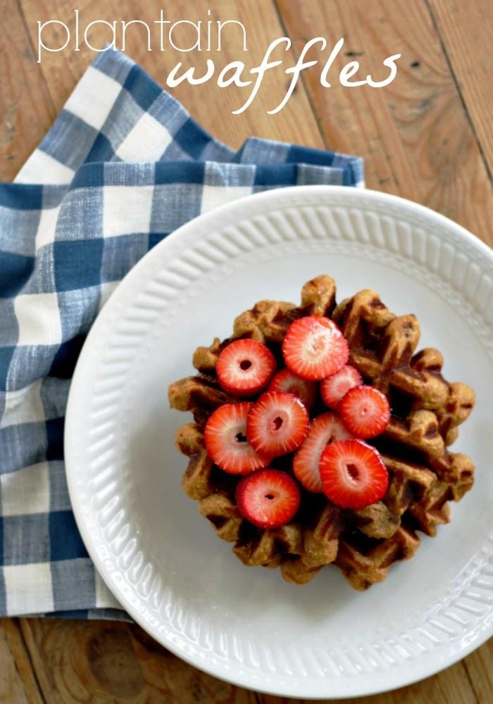 plantain waffles  - egg free, dairy free, grain free, nut free waffles