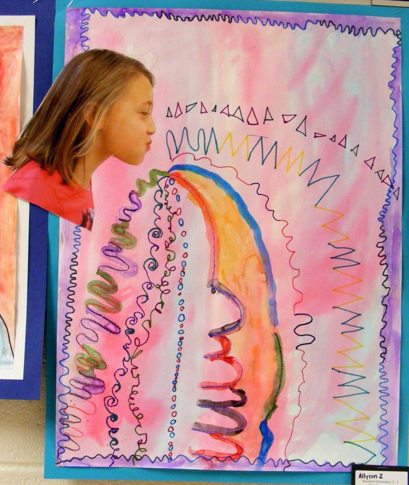 Line Art Grade 2 : Suffield elementary art nd grade line studies