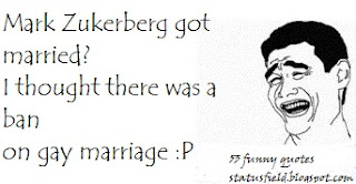 funny Mark Zukerberg marriage quote image pic