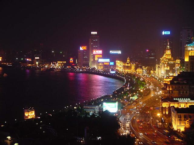 vé máy bay đi thượng hải - Bến Thượng Hải về đêm
