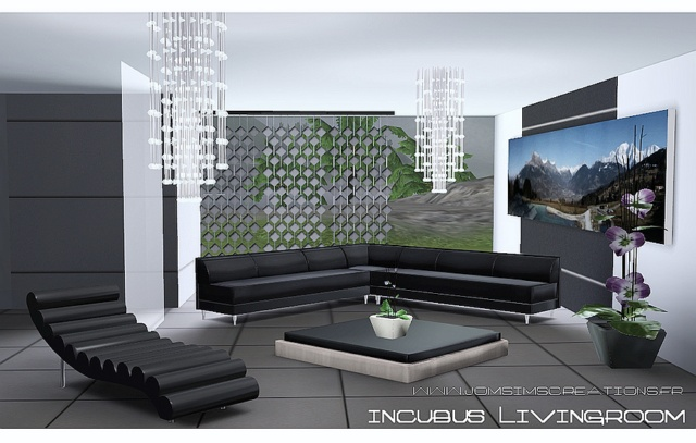 My sims 3 blog incubus living room set by jomsims for Sims 3 living room sets