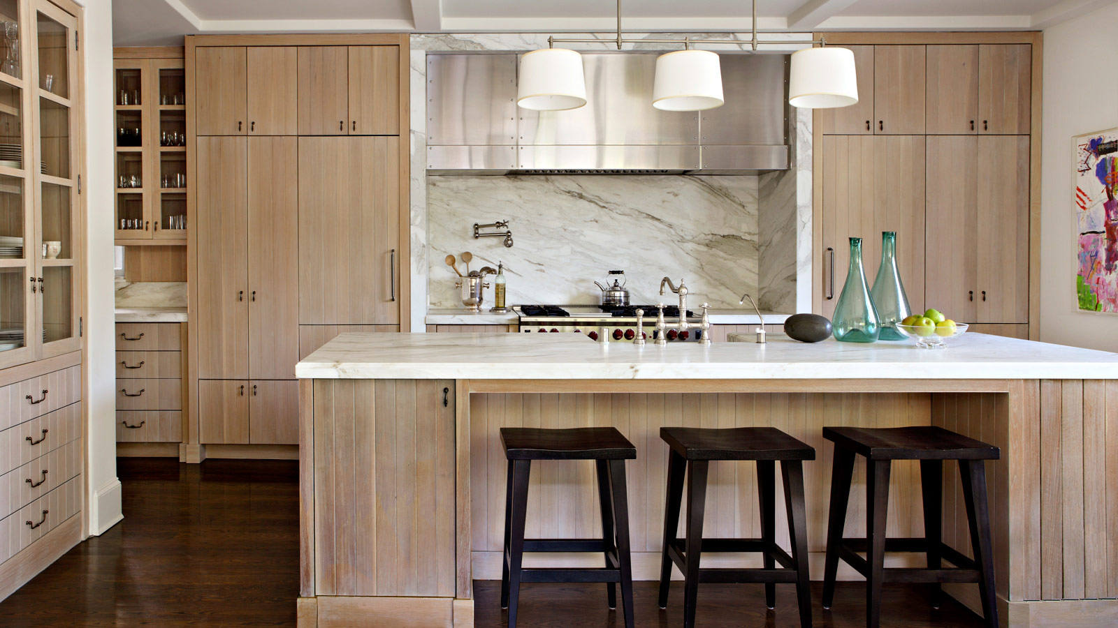 Anyeongchinguyo interior design for Contemporary oak kitchen cabinets