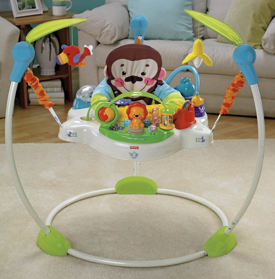 Toys for rent fisher price precious planet jumperoo why for Door jumperoo