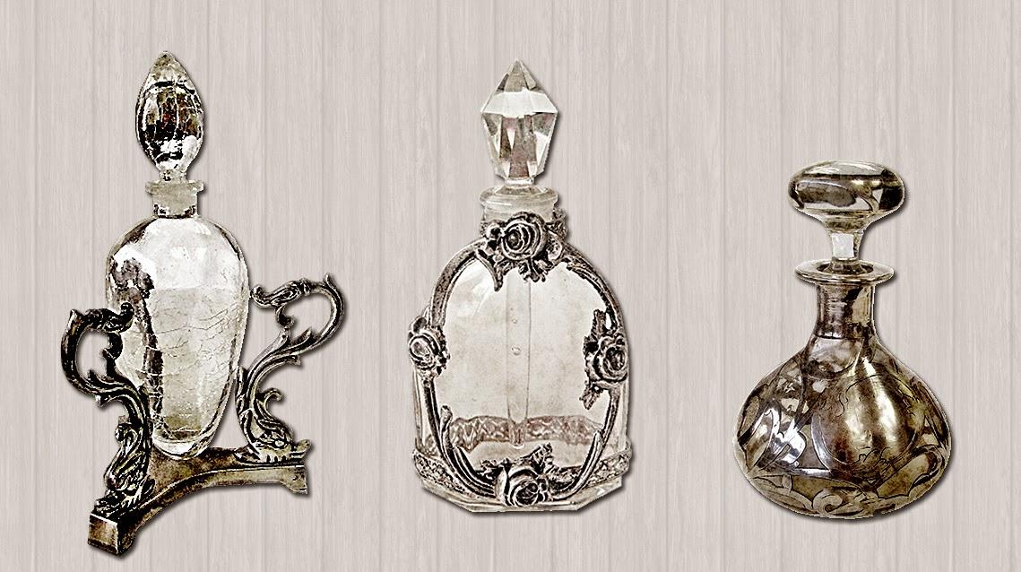 Vintage Perfume Bottles Image