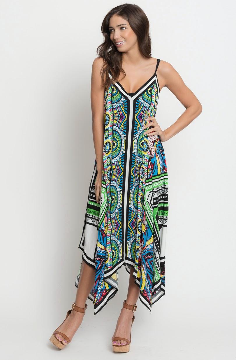 Buy online caribbean asymmetrical maxi dress  for women on sale