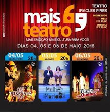 OLHA AÍ! EM MAIO: FINAL DE SEMANA ARRETADO DE TEATRO. DIAS 04, 05 E 06, ÀS 20H, NO TEATRO ICA
