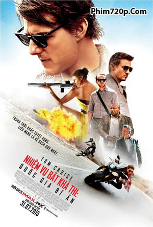 Mission Impossible 5: Rogue Nation 2015 poster