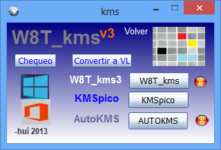 Activador online para Windows 8 y Office (W8T KMS v3.2) ~ PROGRAMAS