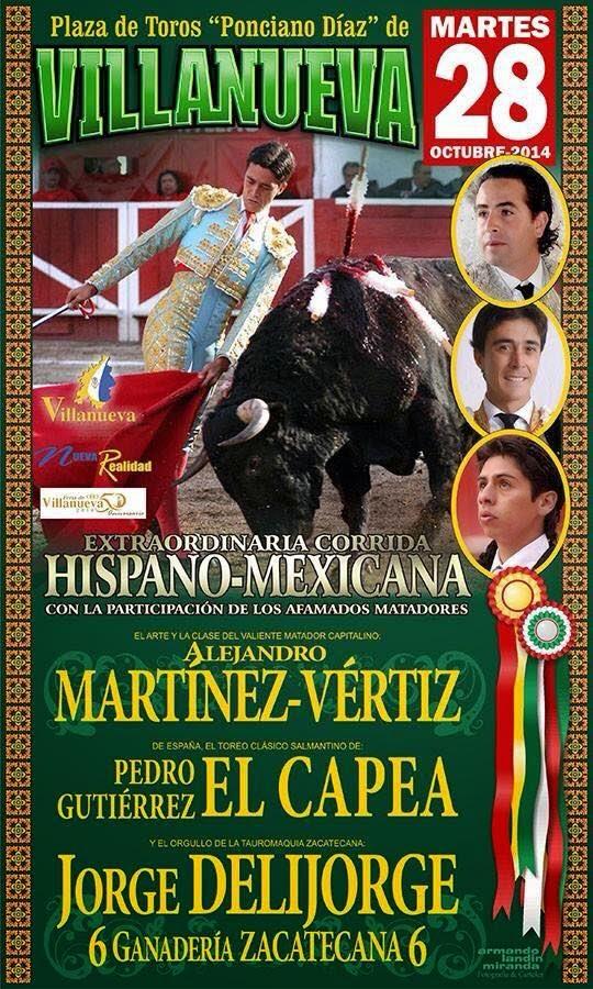 cartel taurino Feria Villanueva 2014
