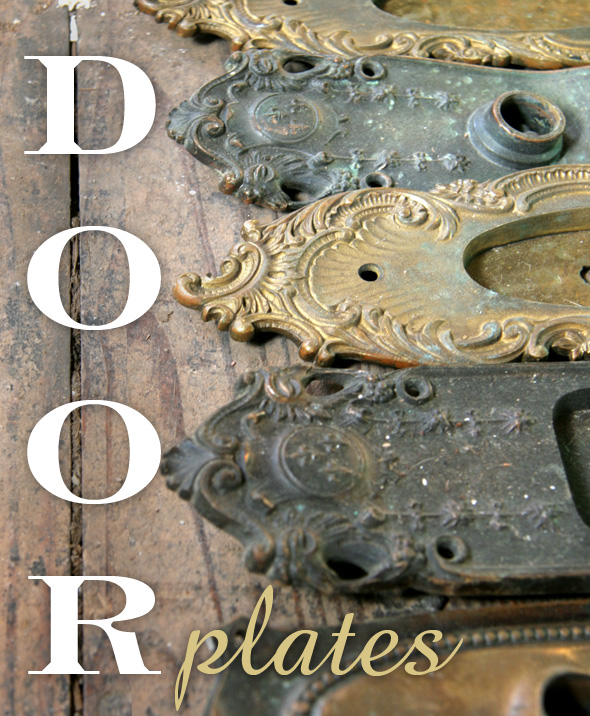 Nessy designs antique door plates for Antique door decoration