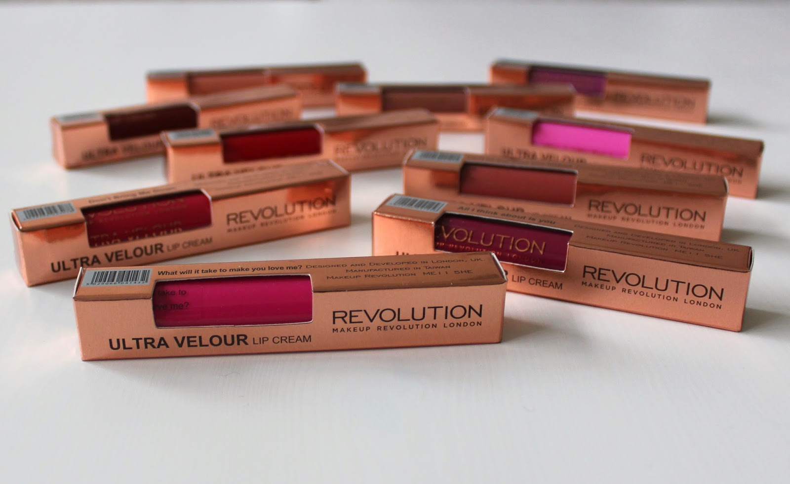 New from Makeup Revolution - Ultra Velour Lip Creams