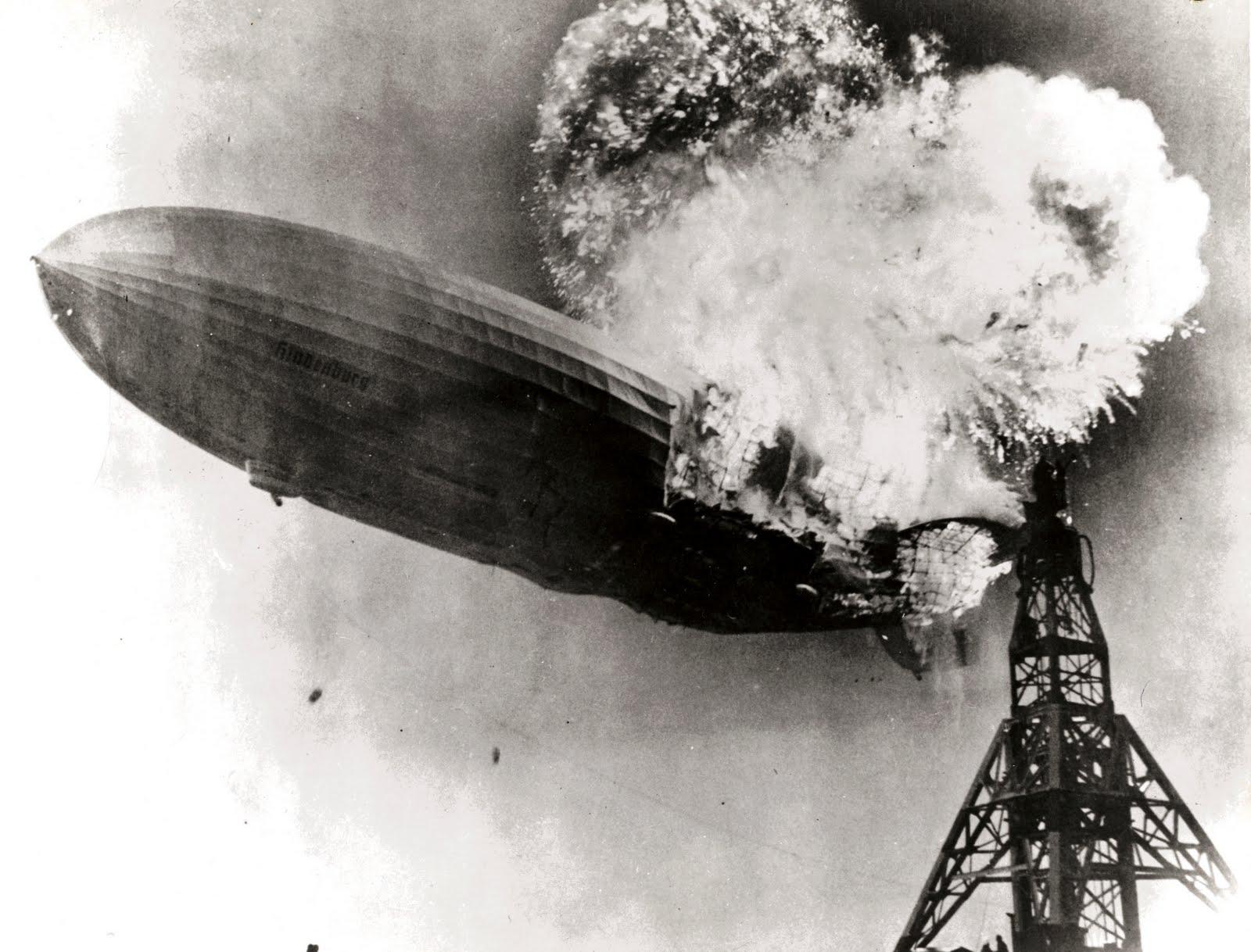 Hindenburg LZ-129 crash at Lakehurst New Jersey