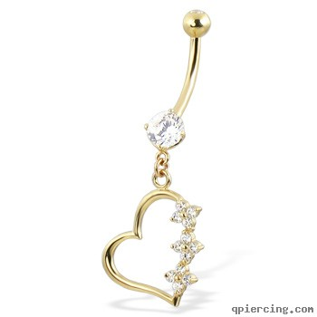 Body Jewelry Products Review Belly button rings heart