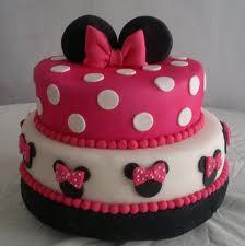 Torta Forrada Con Fondant  Minnie Mouse