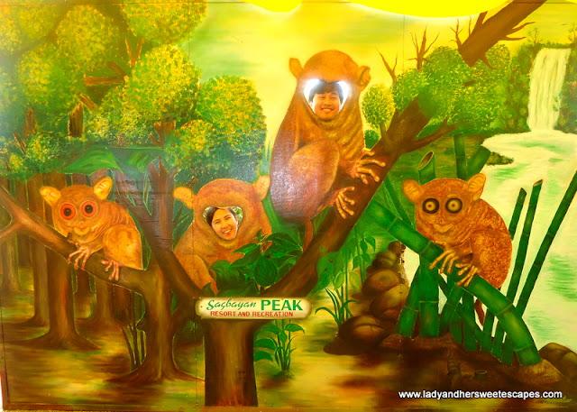 ed_and_lady as tarsier in Sagbayan Peak Bohol