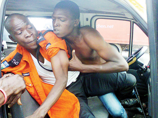 LASTMA Yanks Off Motorist's Front Teeth Over 50 Naira Bribe (Photos)