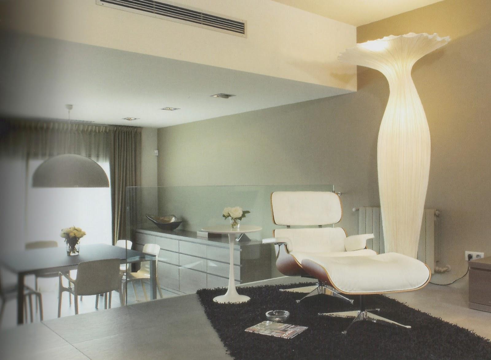 Arantxa Amor decoración.: Un fantástico salón a dos niveles. Pocos ...