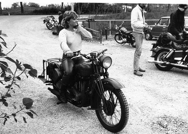 vintage everyday  Girl on a Motorcycle