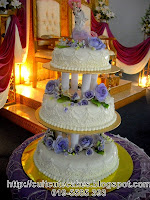 3 tiers wedding cake