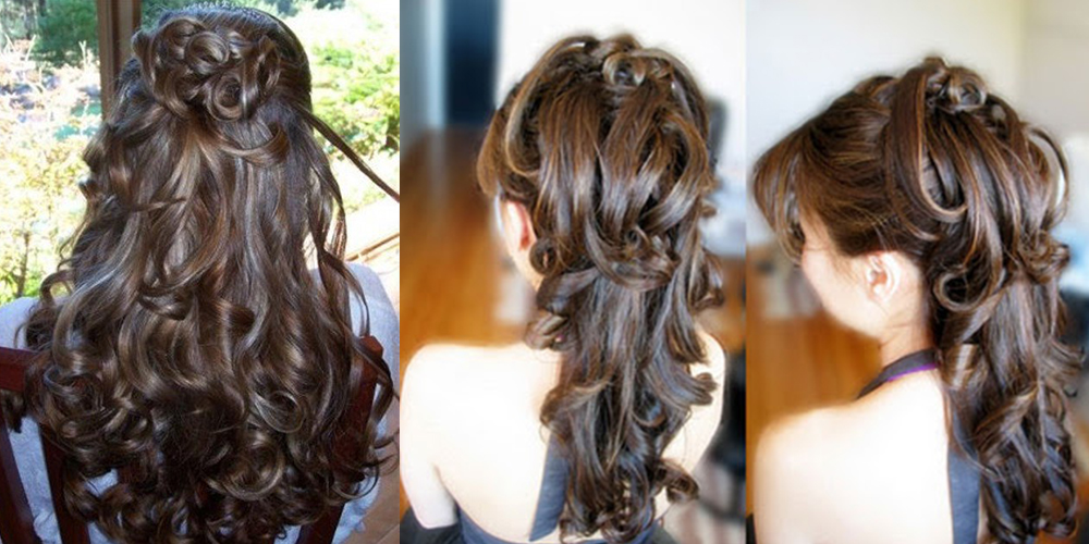 Beautiful Hairstyles For A Party : Beautiful diy hairstyle for wedding and party life with