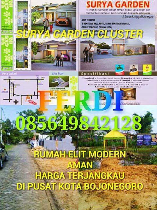 Rumah di Cluster Perumahan dengan Lingkungan yang Elit Bersih Aman dan Harga Terjangkau di tengah Kota Bojonegoro  Ferdy +6285649842128  http://perumahandibojonegoro.blogspot.com/  Segera miliki unit rumah kami kesempatan terbatas, Air PDAM , Keamanan 24 Jam , One Gate System