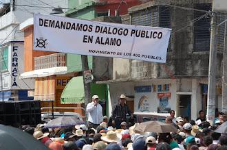 Manifestación en Alamo