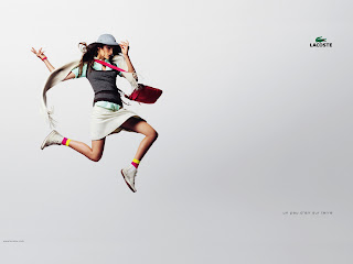 Lacoste Ads Jumping Girl Model Skirt Bag Hat HD Wallpaper