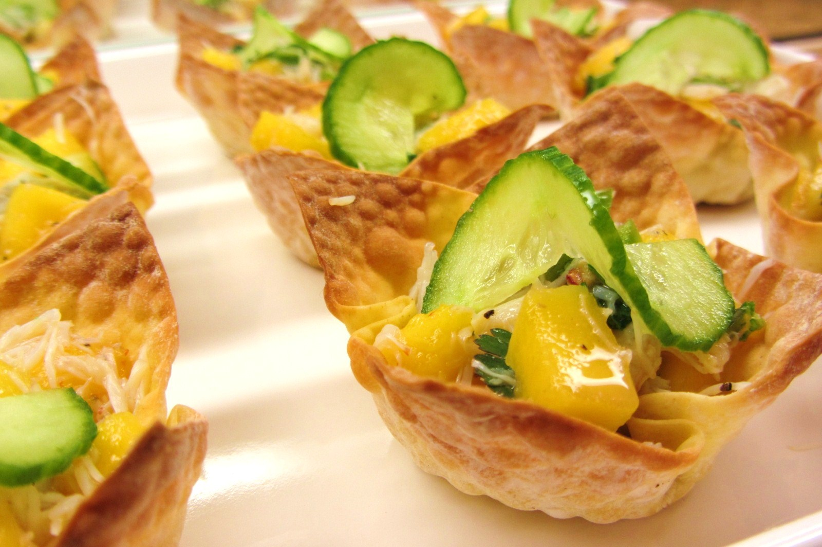 ... ton wrappers found crab salad wonton cups sm0404h crispy wonton cups