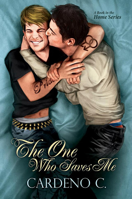 The One Who Saves Me, gay romance novel with cover illustration by Paul Richmond
