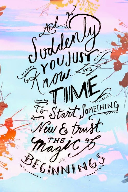 magic of new beginnings - free people quote
