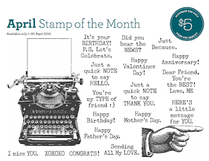 April Stamp Of The Month - Typed Note!