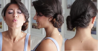twisted side bun hairstyle for girls