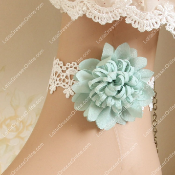 http://www.lolitadressesonline.com/lolita-white-lace-blue-rose-foot-jewelry-p-256.html