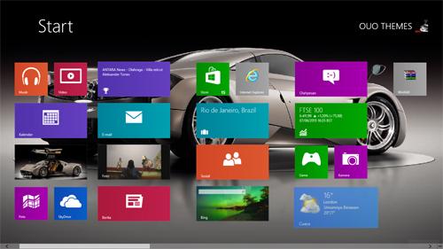 Pagani Huayra Theme For Windows 7 8 9 Blue