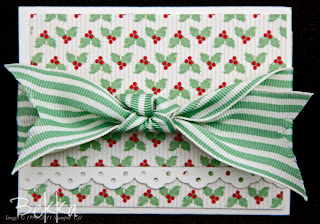 Holly Berry Specialty Papers Gift Card Holder