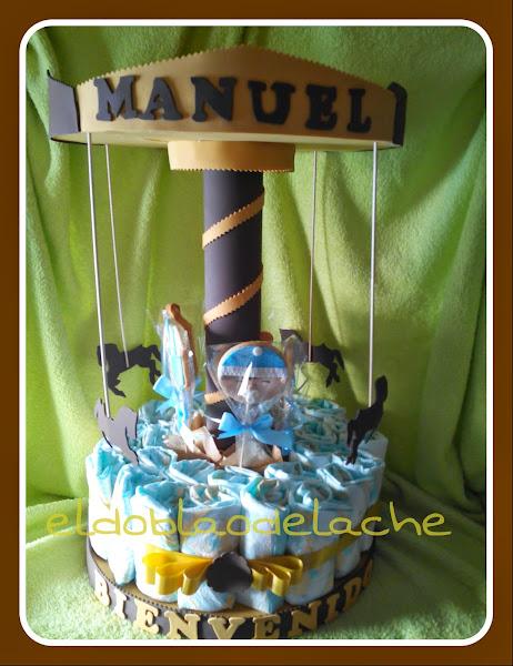 Carrusel de pa�ales en tonos marrones para Manuel