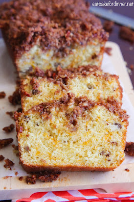 Peach Bread with Crunchy Streusel Topping