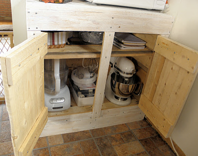 Upcycle us a kitchen cabinet made from shipping pallet for Making cabinets out of pallets