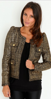 Elisabeth Metallic Tweed Jacket