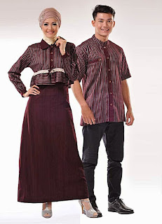 Contoh Desain Baju Muslim Sarimbit 2015