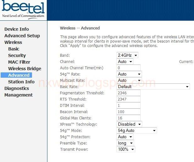 wifi password config Airtel broadband Router Beetel Modem