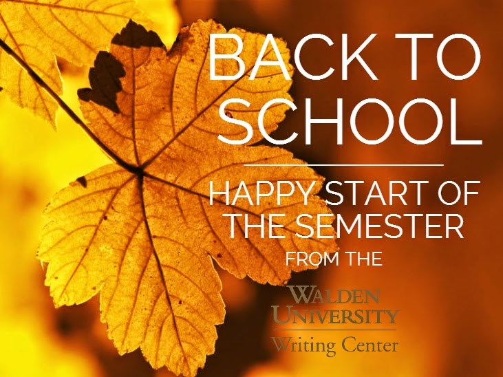 Happy start of the semester from the Writing Center!