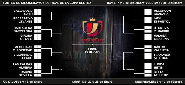 FUTBOLEROS Anónimos : El calendario de la Copa de Rey 2013/2014 (Por ...