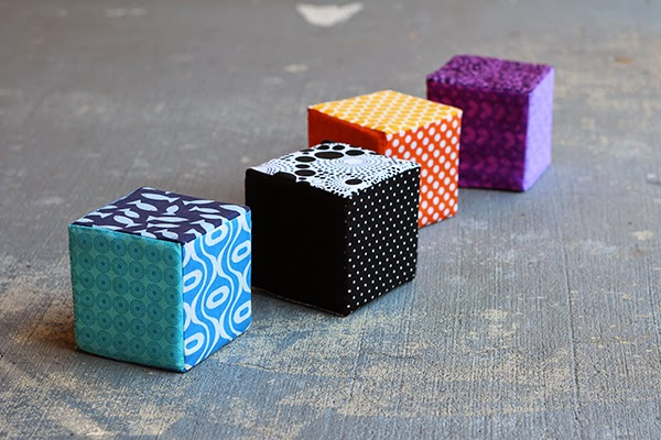 Fabric covered foam blocks sewing