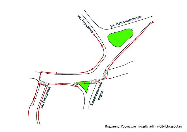 Схема проезда на площади фрунзе во владимире