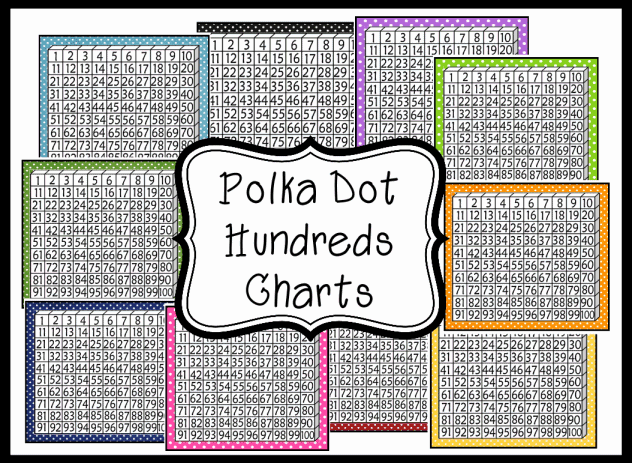 free printable hundred chart number chart 1 to 100 hundreds chart ...