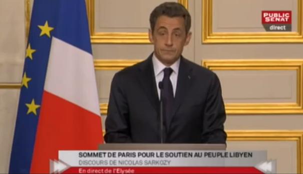 Discours de Nicolas Sarkozy au sommet international sur la Libye
