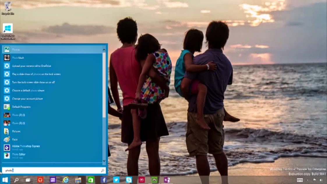 Can Search from start menu