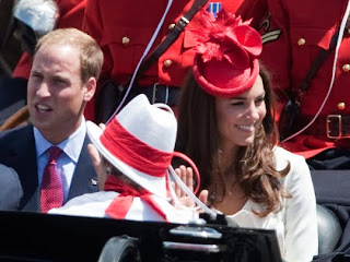 William and Kate, the Duke and Duchess of Cambridge, participate in Canada Day celebrations on Parliament Hill in Ottawa on Friday, July 1, 2011